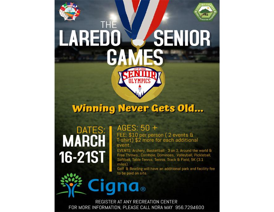 Laredo Senior Games....Register Today!