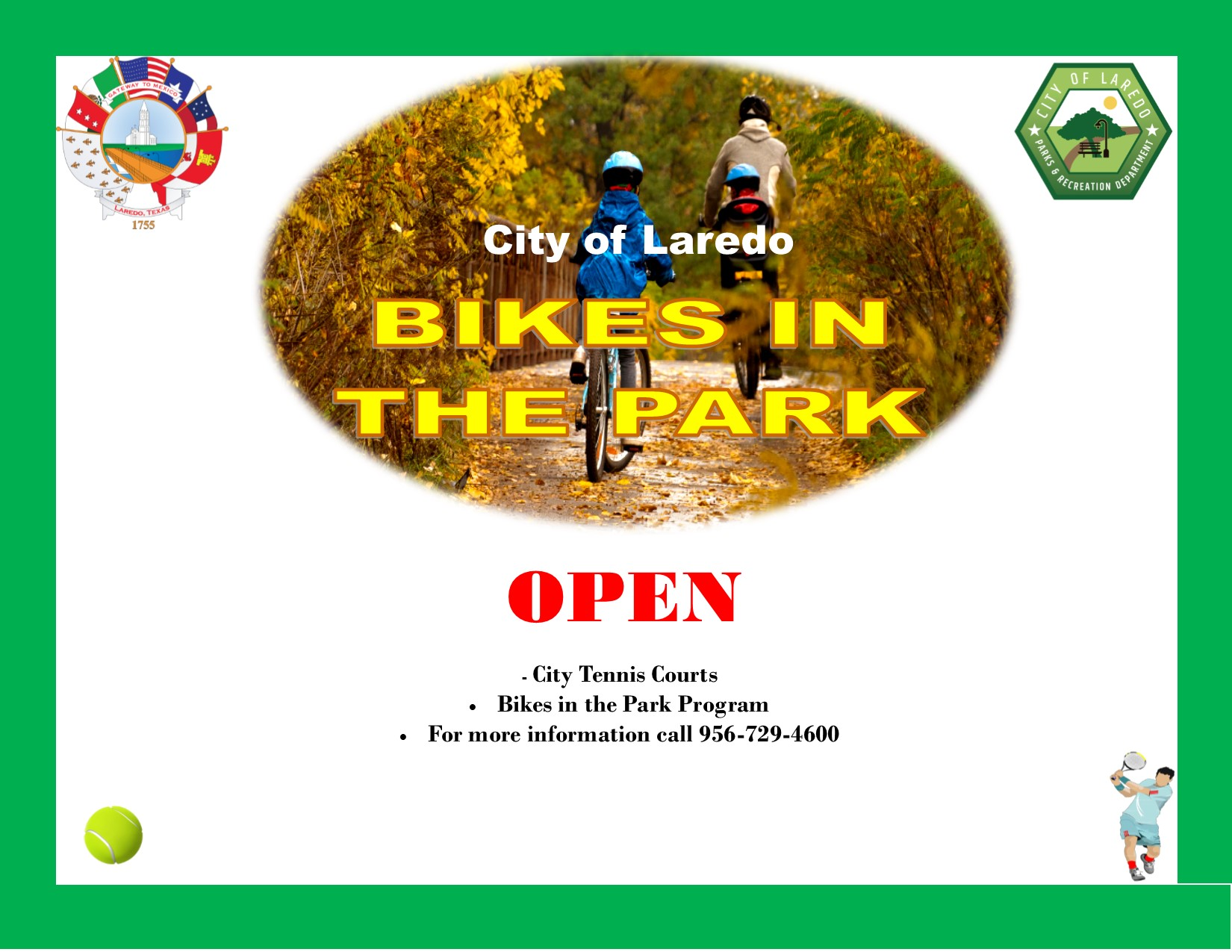 Bikes in the Park--Open