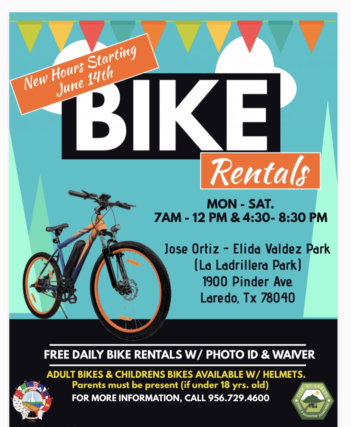 Bikes in the Park Spring 2021