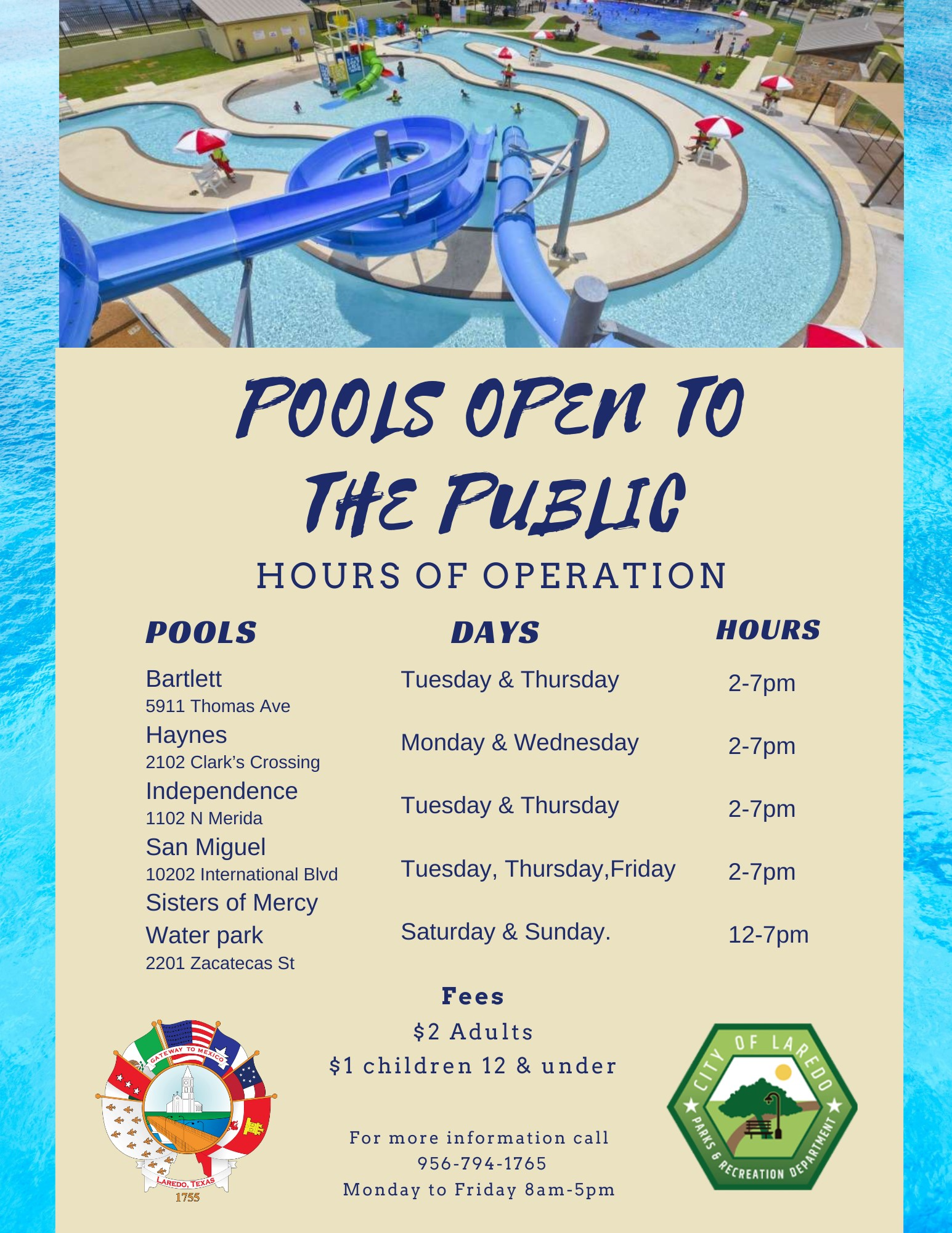 Pools Open to the Public